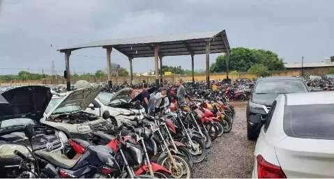 Termina na terça-feira leilão do Detran com 458 lotes de veículos
