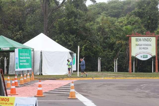 Parque dos Poderes volta a ser fechado para exercícios, mas sob alerta da covid