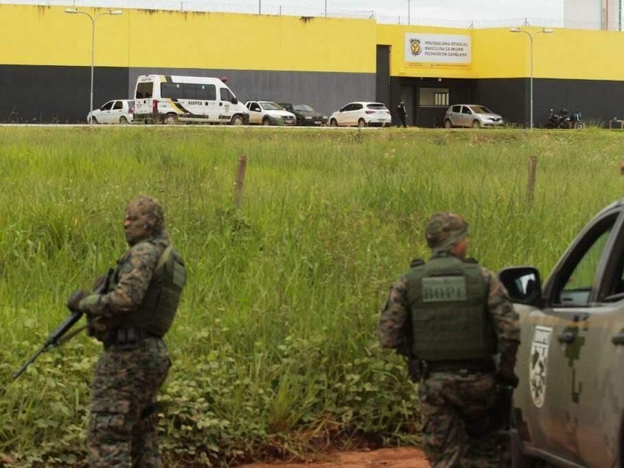 Penitenciária Estadual Masculina de Regime Fechado da Gameleira, em Campo Grande, que começou a operar em fevereiro (Foto: Marcos Maluf)