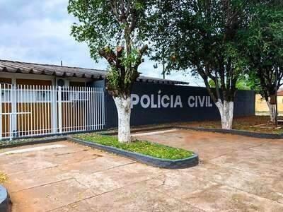 Delegacia da Polícia Civil de Anastácio, para onde pessoas presas foram levadas (Foto: Divulgação)