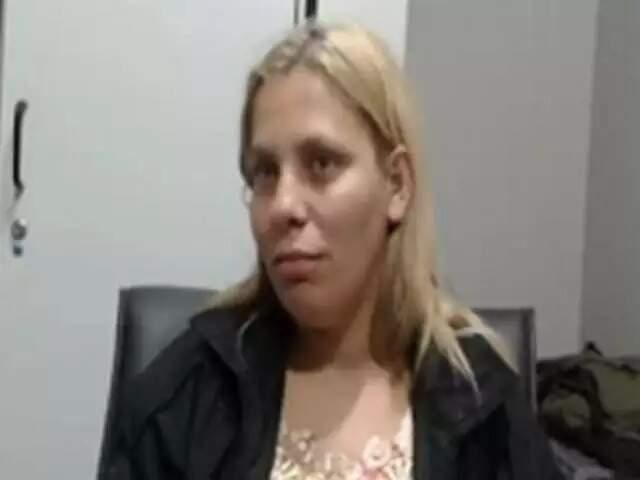 Eliane Benitez Batalha durante o depoimento à força-tarefa, em agosto do ano passado, cujo conteúdo ela desmentiu em audiência na justiça estadual sobre a morte de Matheus Coutinho Xavier (Foto: Vídeo/Reprodução)