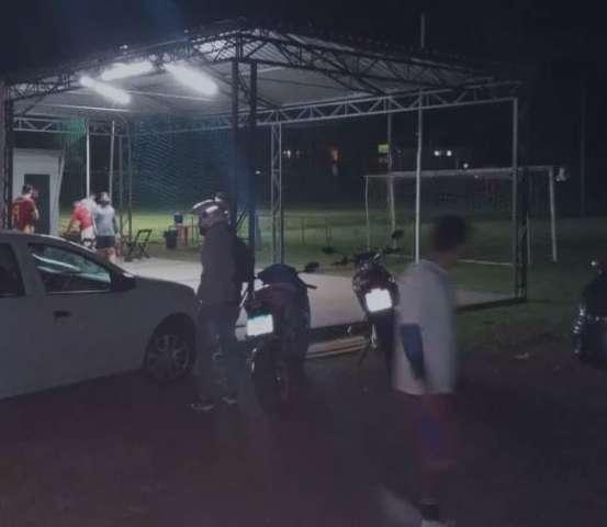 "Guarda interrompe jogo de bola ""clandestino"" no Rita Vieira"
