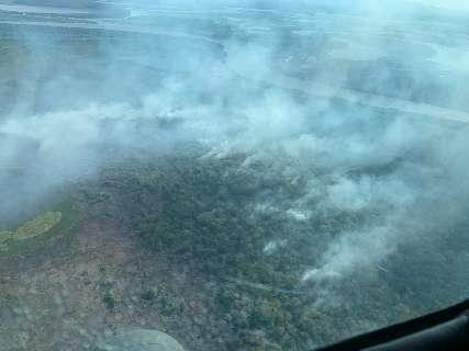 Há 4 dias, incêndio avança pelo Pantanal e já queimou 10 hectares