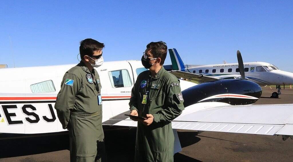 Viagens são feitas por pilotos da Casa Militar (Foto: Edemir Rodrigues - Governo MS)