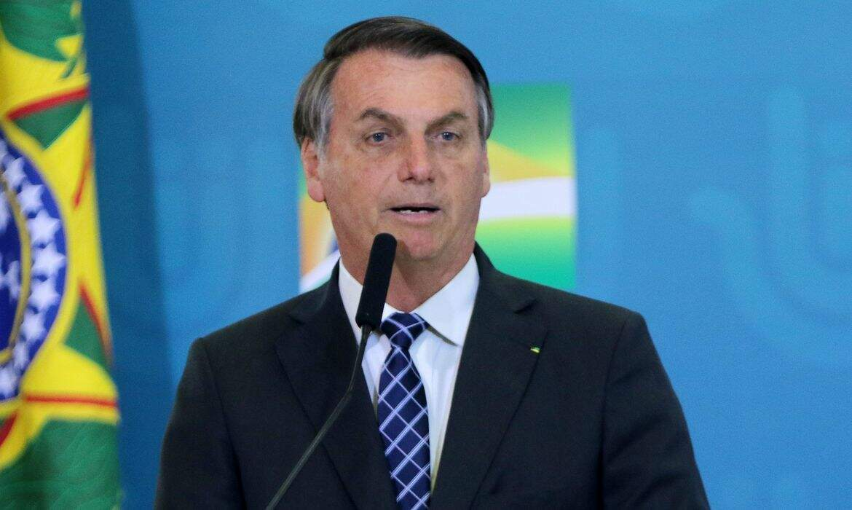 Presidente Jair Bolsonaro (sem partido), durante pronunciamento no Palácio do Planalto (Foto: Wilson Dias/Agência Brasil)l