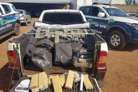 Polícia recebe denúncia e casal é preso com 400 kg de maconha no Tiradentes