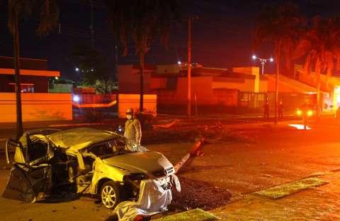 Imagem mostra violência de acidente que matou motorista em Chapadão do Sul