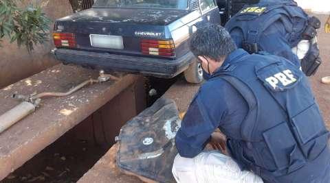 Jovem é preso enquanto transportava maconha no tanque de veículo