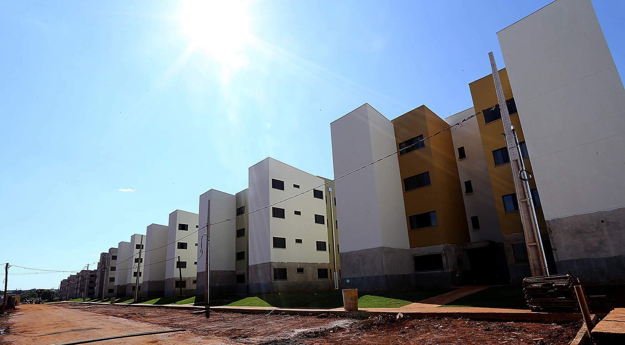 Moradias do Residencial Aero Rancho, em Campo Grande (Foto: Edemir Rodrigues - Governo MS)