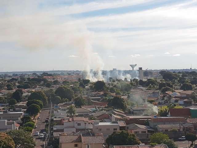 Briga por fios de cobre acaba em incêndio de vegetação na Vila Margarida