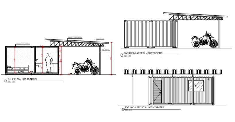 Projeto para instalação de contêineres à Guarda Municipal no Horto (Foto: Reprodução)