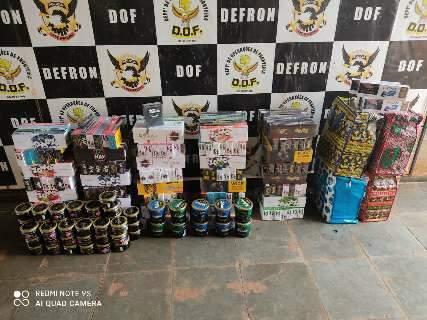 Em abordagens, DOF apreende R$ 150 mil em eletrônicos e cigarros
