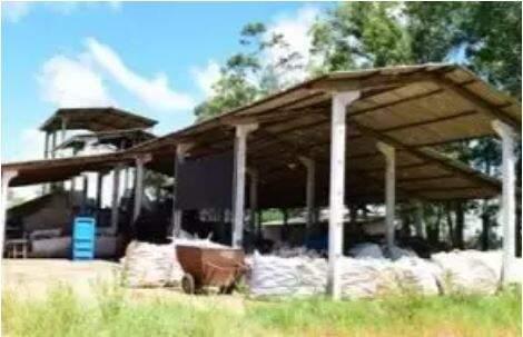 Usina de materiais recicláveis onde o feto foi encontrado (Foto: Divulgação/Prefeitura de Iguatemi)