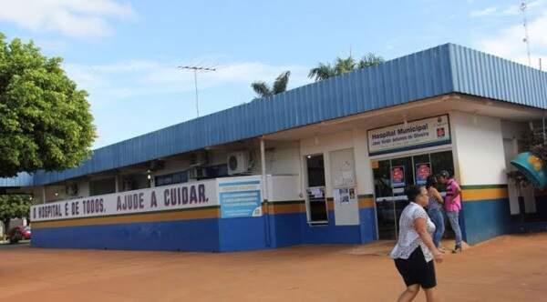 Idoso estava neste hospital em São Gabriel do Oeste. (Foto: Reprodução das redes sociais)