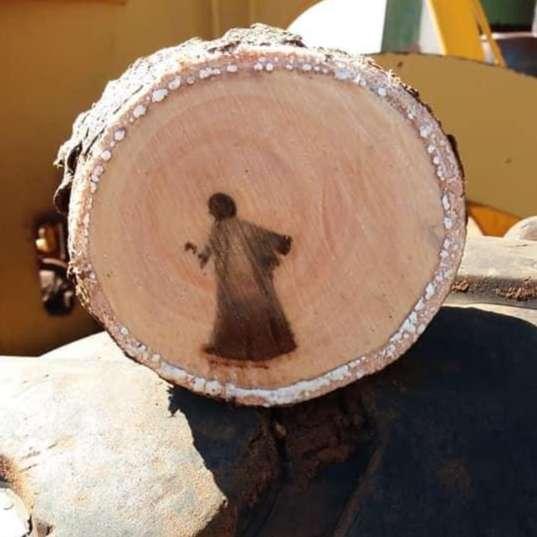 """Imagem de """"Jesus"""" aparece no meio de tronco em cidade do interior"""