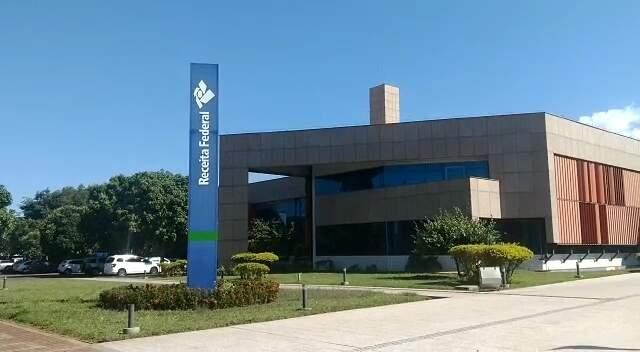 Sede da Receita Federal em Mato Grosso do Sul, no Parque dos Poderes (Foto: Liniker Ribeiro/Arquivo)