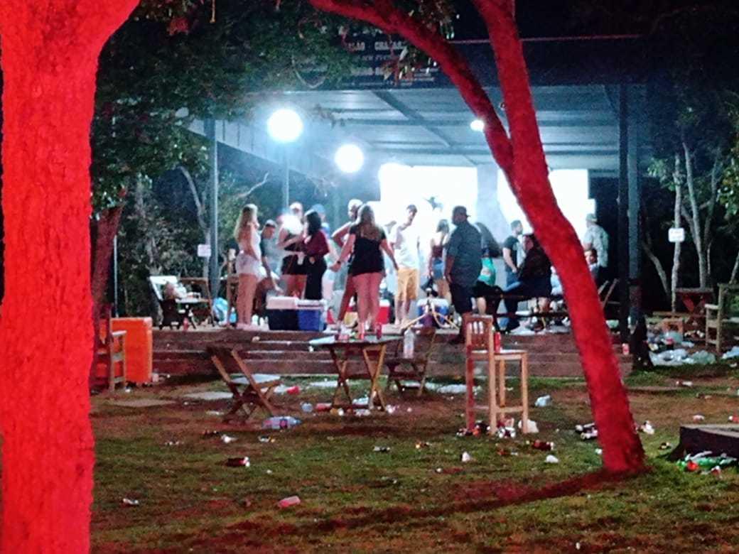 Pessoas em festa clandestina que aconteceu na Capital (Foto: Divulgação/GCM)