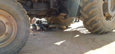 Idoso de 62 anos é resgatado em estrada vicinal após ser atropelado por trator