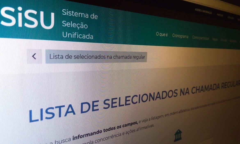 Lista de selecionados será divulgada no portal do Sisu. (Foto: Reprodução)