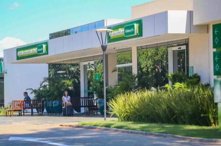 Entrada do Hospital da Unimed em Campo Grande (Foto: Arquivo/Marcos Maluf)