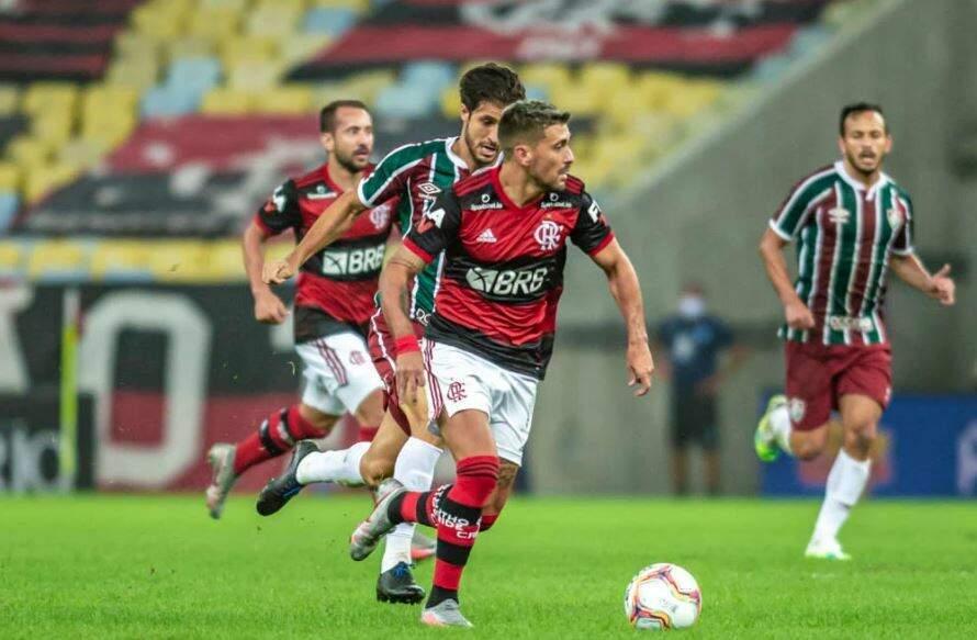 Lance da partida decisiva desta noite. (Foto: Alexandre Vidal/Flamengo/ReproduçãoGazetaEsportiva)