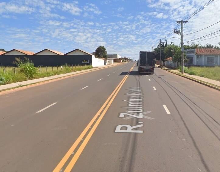 Rua Zulmira Borba, onde ocorreu o acidente nesta madrugada. (Foto: Google Street View)