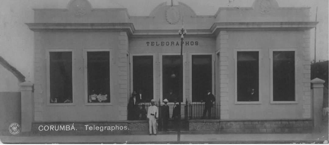 Na época, era a principal sede dos telégrafos de Mato Grosso (Foto: Arquivo/Fundação da Cultura e do Patrimônio Históri