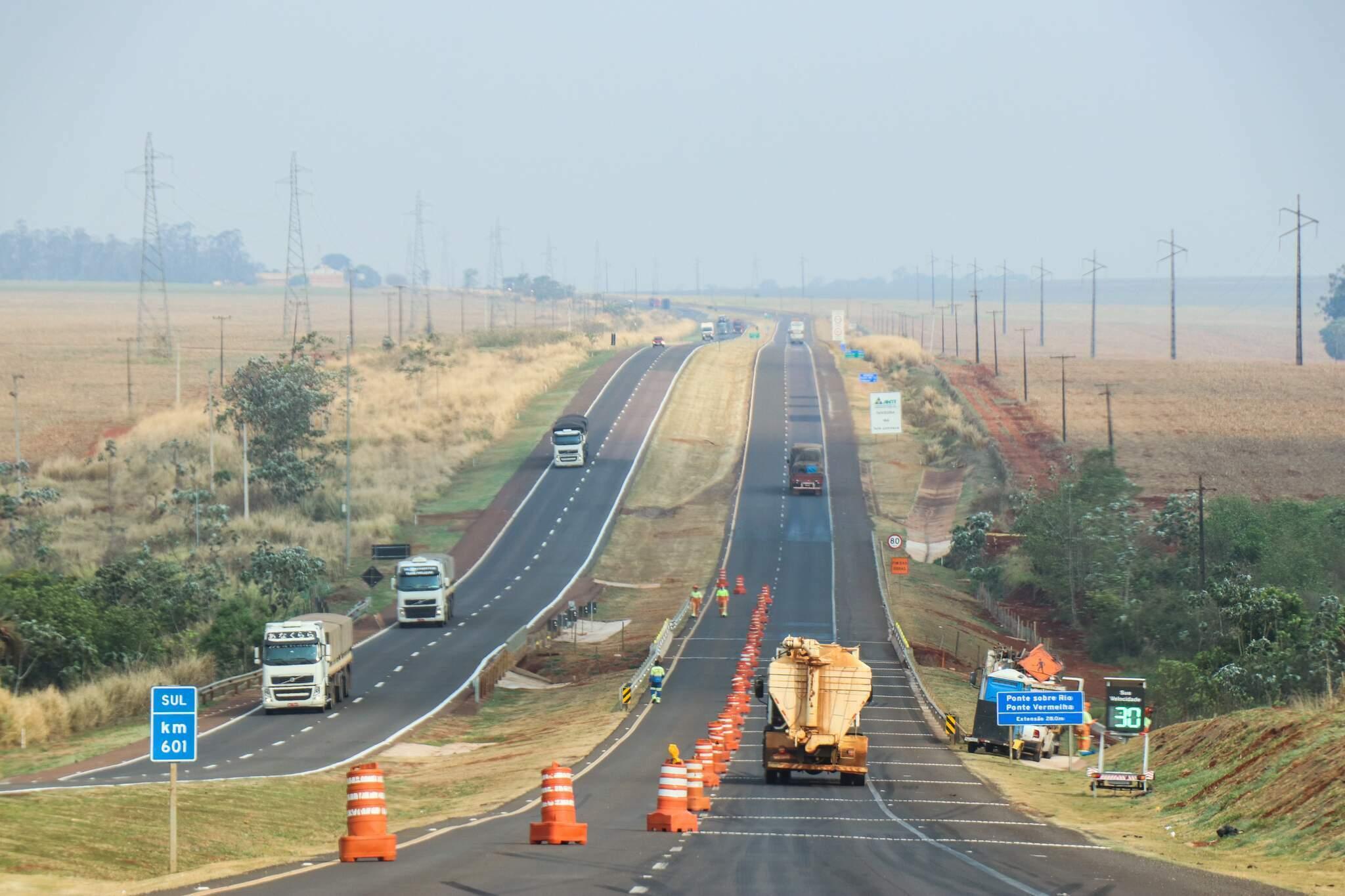 Trecho duplicado da BR-163, em Mato Grosso do Sul (Foto: Arquivo)