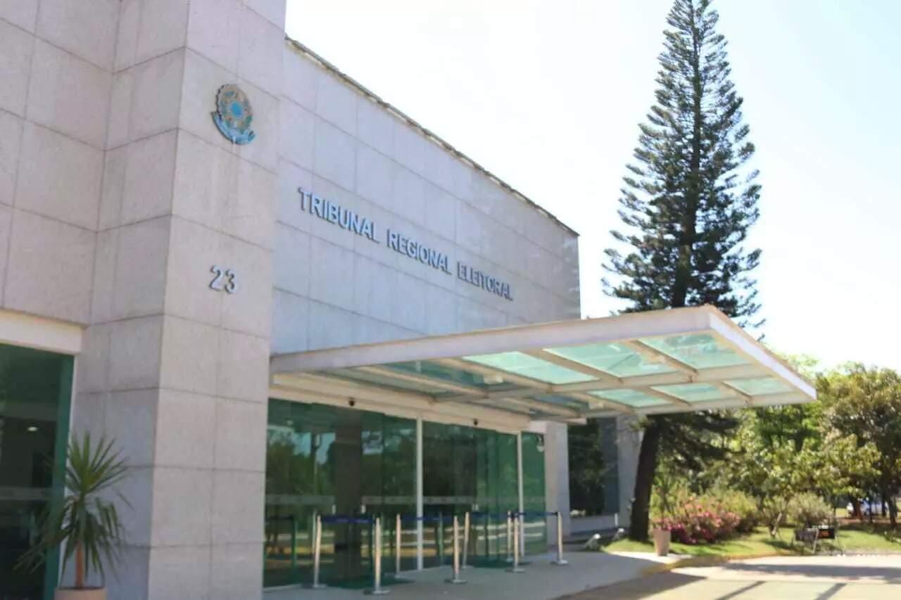 Sede do Tribunal Regional Eleitoral no Parque dos Poderes em Campo Grande (Foto: Henrique Kawaminami/Arquivo)