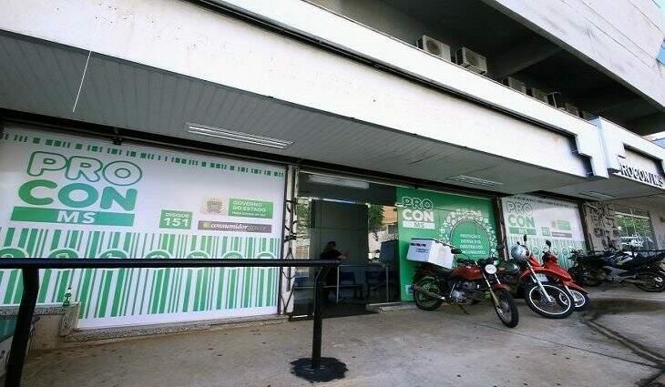 Fachada da sede do Procon-MS, em Campo Grande (Foto: Divulgação/Procon)
