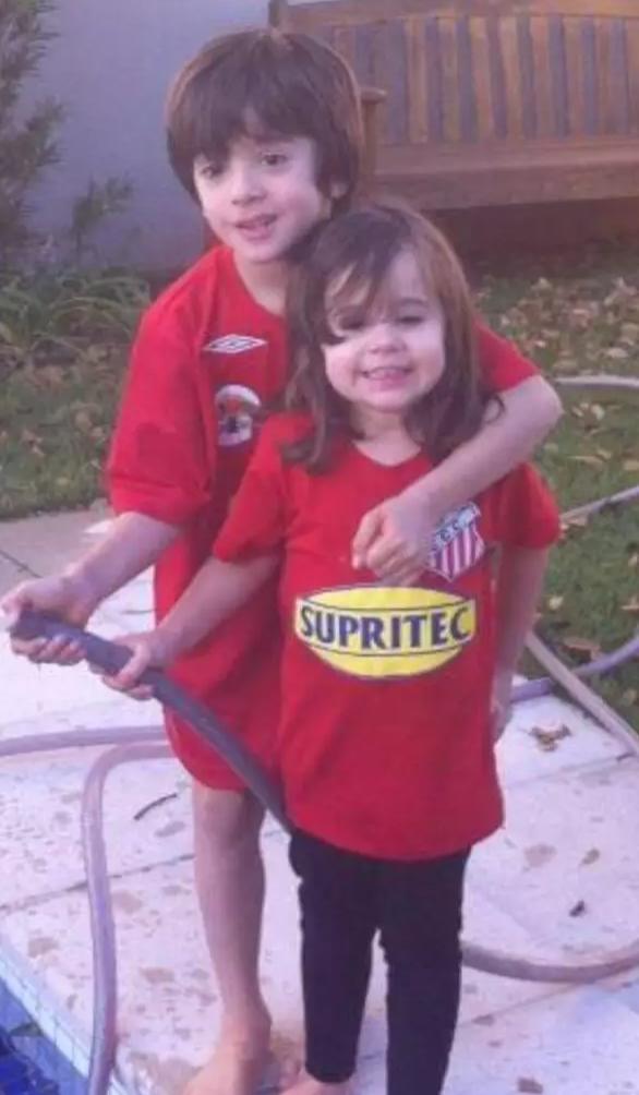 João e a irmã já eram comercialinos quando menores (Foto: Arquivo Pessoal)