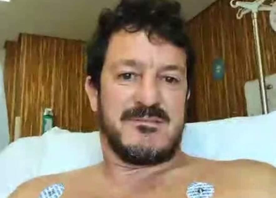Edson Zarda, de Campo Grande, relatou o que ocorreu em vídeo divulgado no instagram (Foto: Reprodução)