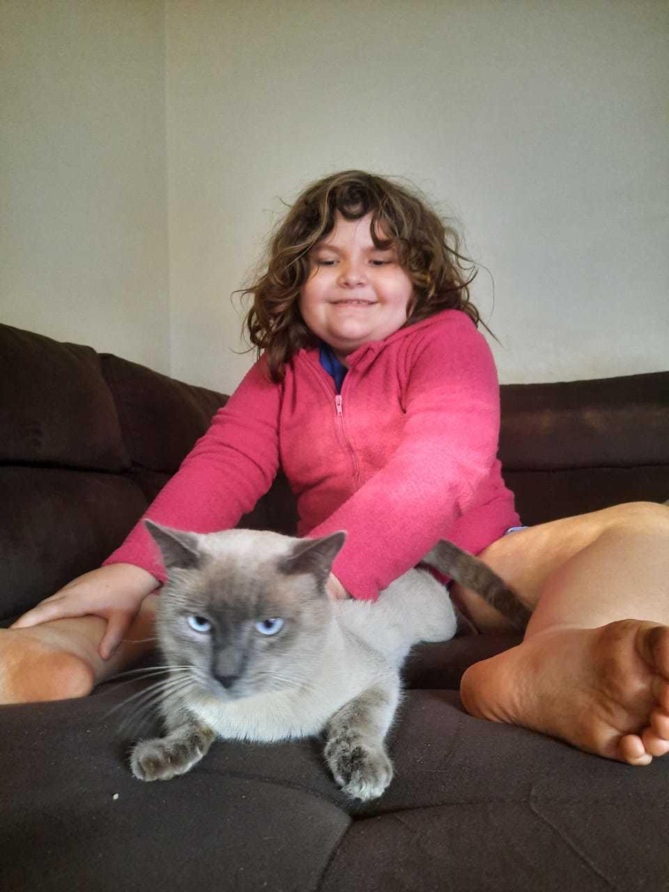 Dom na companhia da pequena Isabelle. (Foto: Arquivo Pessoal)