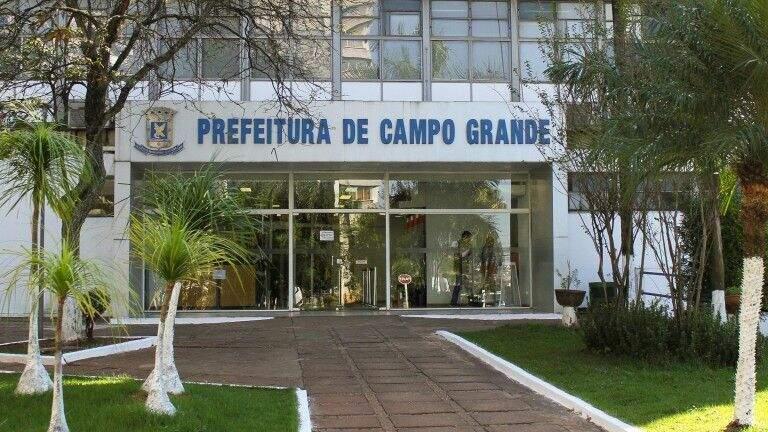 Fachada da prefeitura de Campo Grande, localizada na Avenida Afonso Pena (Foto: Divulgação/PMCG)