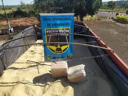 PMR descobre 6 toneladas de droga em carreta e bate recorde de apreensões
