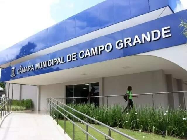 Sede da Câmara Municipal de Campo Grande (Foto: Henrique Kawaminami - Arquivo)