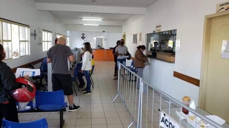 Acolhimento para casos de covid-19 no CRS Tiradentes que fica ao lado da USF. (Foto: Divulgação/ PMCG)