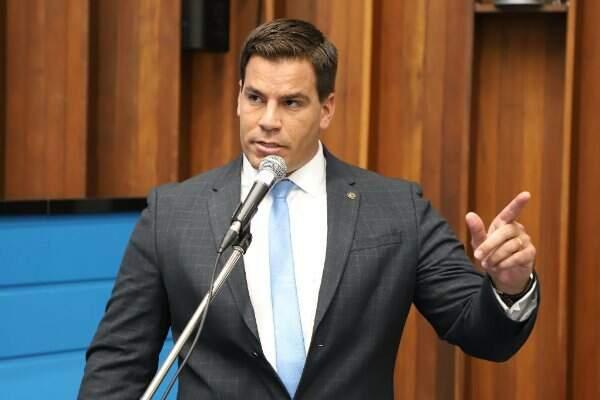 Deputado estadual, Renan Contar (PSL), durante sessão na Assembleia (Foto: Divulgação - ALMS)