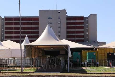Com 144 leitos disponíveis, hospital de campanha do HR continua vazio na Capital