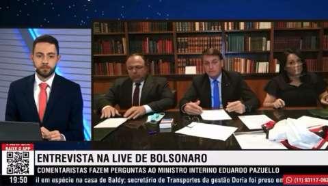 Bolsonaro reclama de servidores de MS que disseram que cloroquina veio do Trump