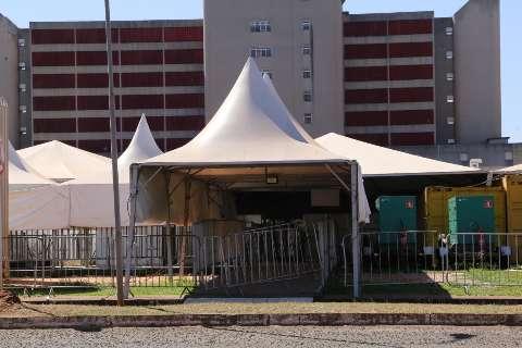 Hospital de Campanha sem uso no HR custou mais de R$ 2 milhões ao Estado