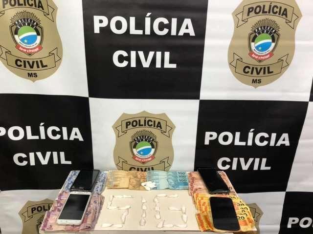 Quatro são presos com drogas e dinheiro em operação de combate ao tráfico