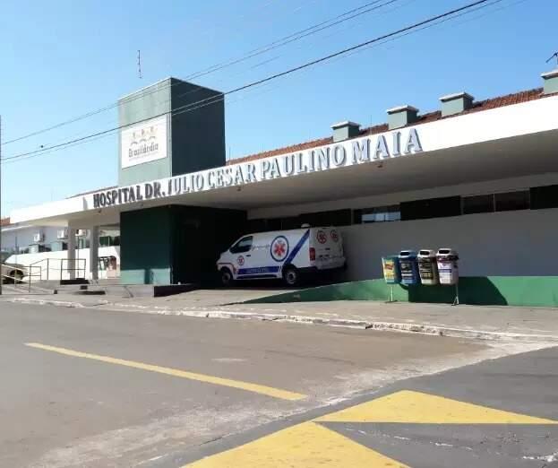 Fachada do Hospital Doutor Júlio César Paulino Maia. (Foto: Divulgação/Prefeitura)