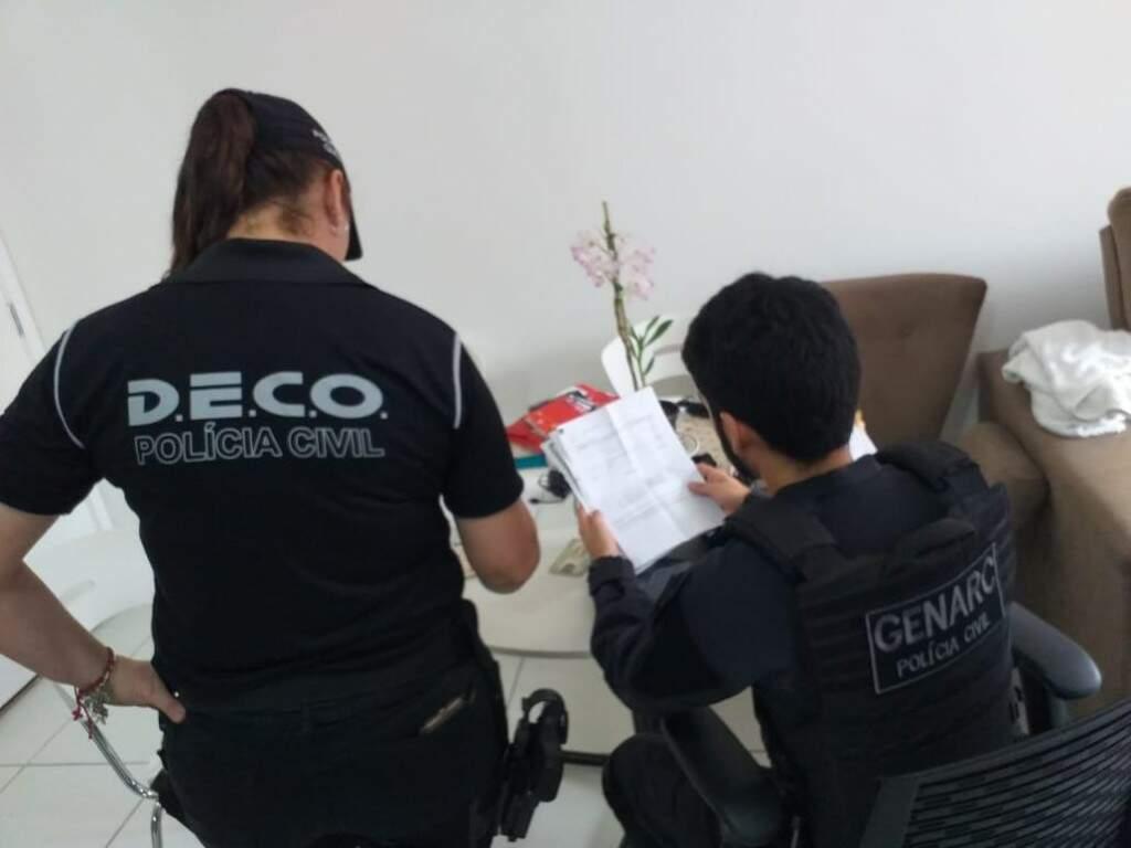 Investigação do Departamento de Comnbate ao Crime Organizado em MS, no ano passado (Foto: Divulgação)