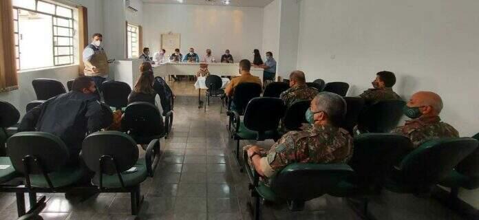 Comissão de Controle Sanitário de Bonito, que definiu ações para frear a covid-19 (Foto: Divulgação/Prefeitura)