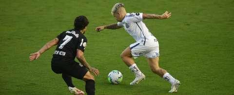 Santos sai na frente, mas Red Bull Bragantino alcança empate nos acréscimos