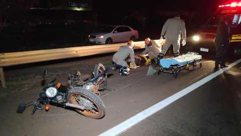 Médicos conseguem reconstruir perna de motociclista atropelado em racha