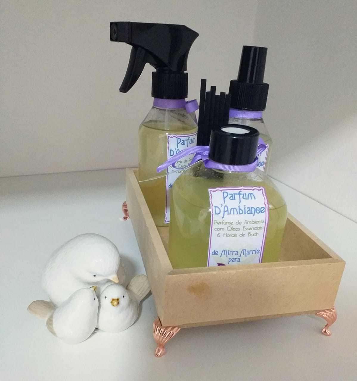 Essência em spray e perfume para melhorar o ambiente. (Foto: Arquivo pessoal)