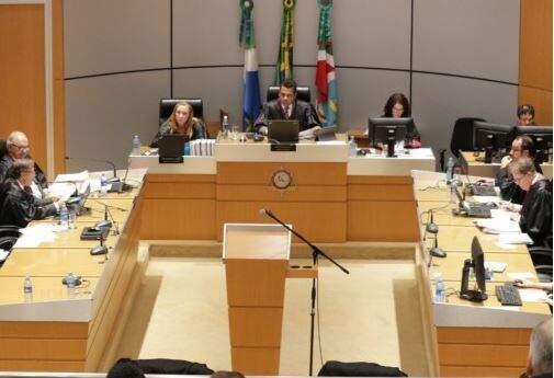 Sessão no Tribunal de Justiça. (Foto: Divulgação)