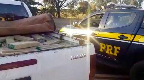 Traficante é preso na BR-267 transportando 1,2 tonelada de maconha